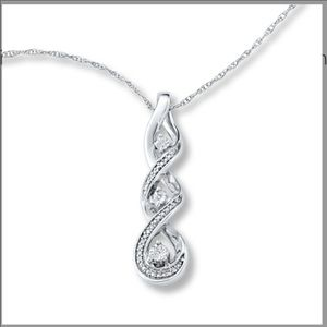 """New Diamonds Charm Sterling Silver Free 18"""" Chain!"""